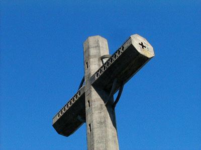 Cruz de cemento sobre el Cerro Pan de Azúcar - Pan de Azúcar