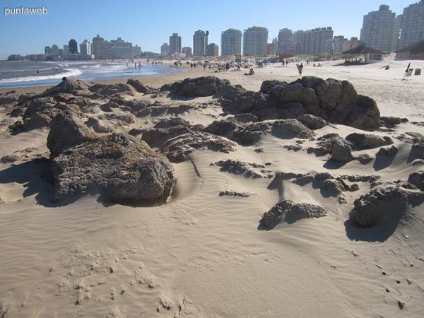 Playa Brava a la altura de la parada 1.