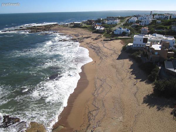 Vista hacia el oeste desde el faro de José Ignacio.