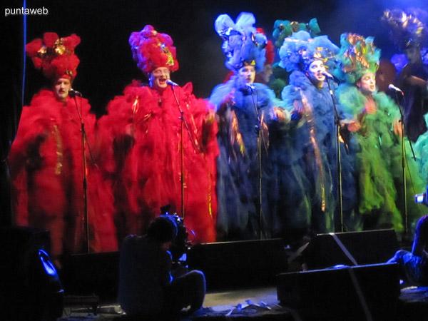 Concurso de carnaval en el Teatro de verano Cayetano Silva.