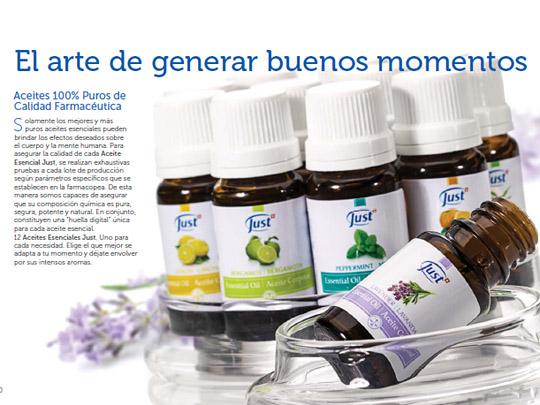 El arte de generar buenos momentos. Aceites 100% puros de calidad farmac�utica.