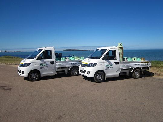 Moderna flota con unidades equipadas con GPS para optimizar los tiempos de entrega.