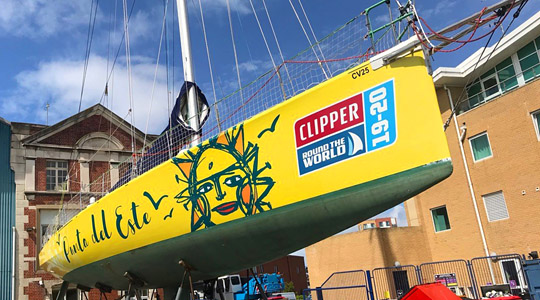foto de la nota Uruguay regresa al escenario mundial del yatching con el barco Punta del Este en la Clipper 2019-20 Race