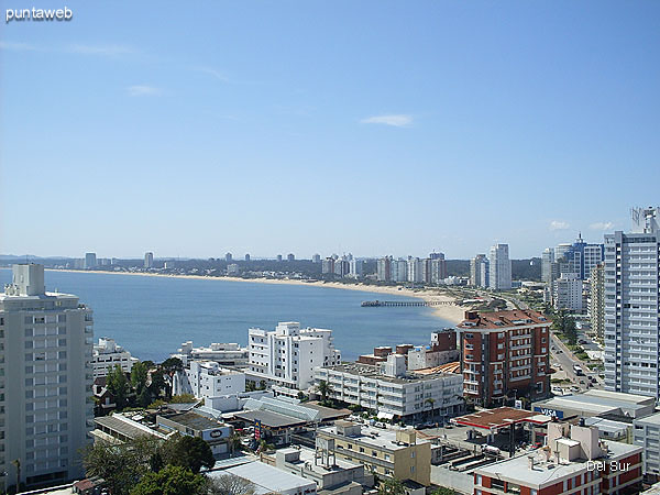 View from the private terrace over the bay of Punta del Este.