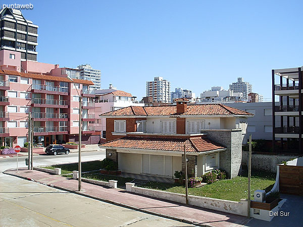 View from the terrace balcony of the apartment to the center of the peninsula.