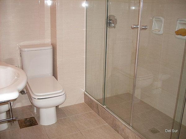 Imagen del baño principal, completo, interior, grifería monocomando y revestimientos de muy buen nivel.