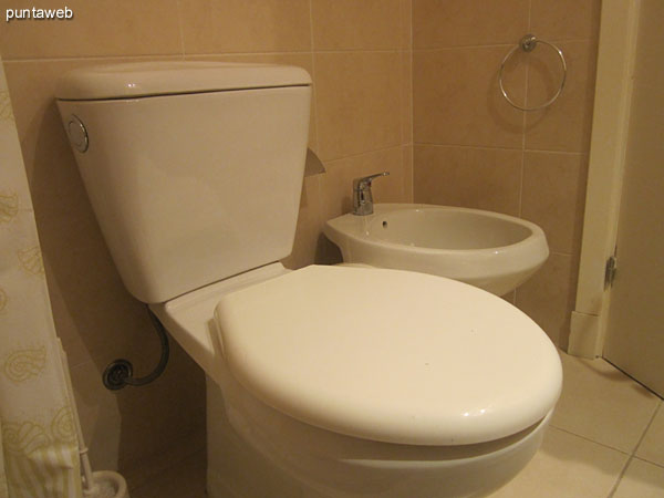 Second bathroom. It is shared by the second and third bedrooms.