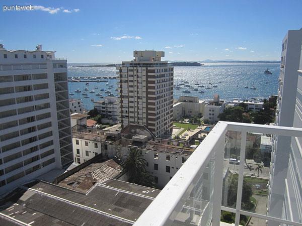 Vista hacia el sur desde el balcón terraza.