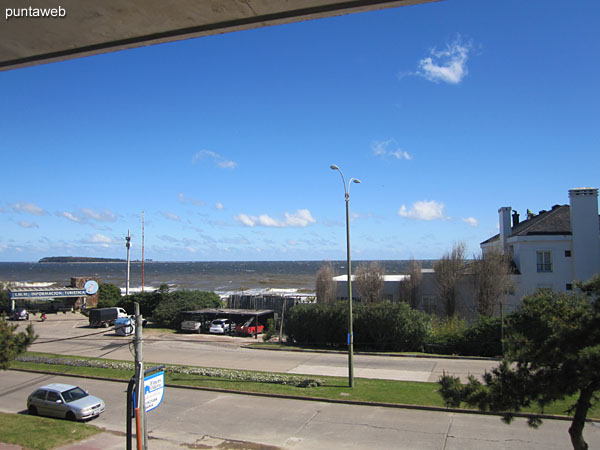 View to the northwest on the beach Mansa from the first floor.