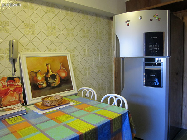 Detalle del espacio de cocina.