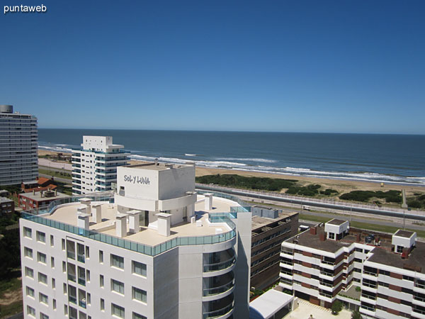 View from 18th floor balcony to the east on the Atlantic Ocean.