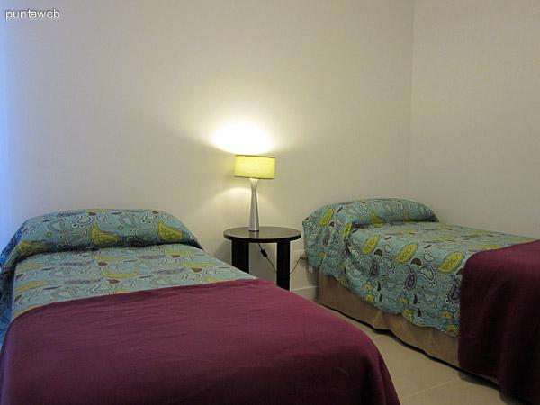 Dormitorio secundario. Acondicionado con dos camas individuales.