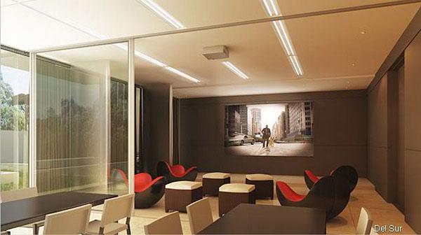 Imagen de living comedor y cocina integrados con vistas exteriores y acceso a terraza.