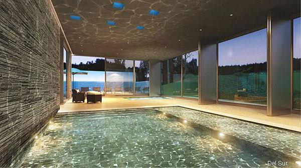 Imagen de Deck solarium y piscina en areas comunes.