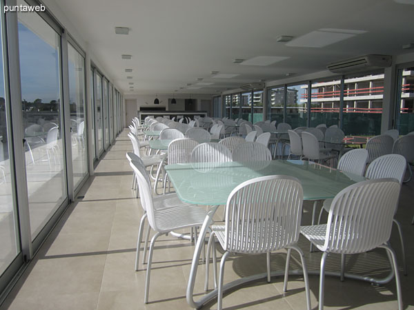 BBQ. Located along the pool in the garden of the complex.<br><br>Large windows on the south and north.