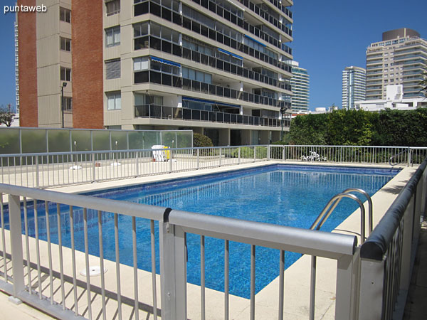 Outdoor Pools. Located in front of the building on the south side.