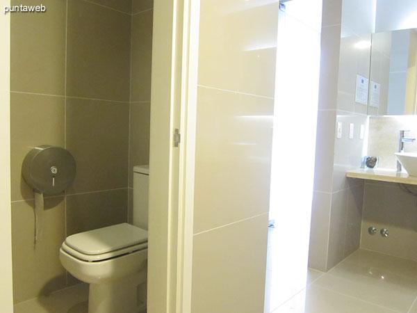 Servicios higiénicos en la zona de Spa.