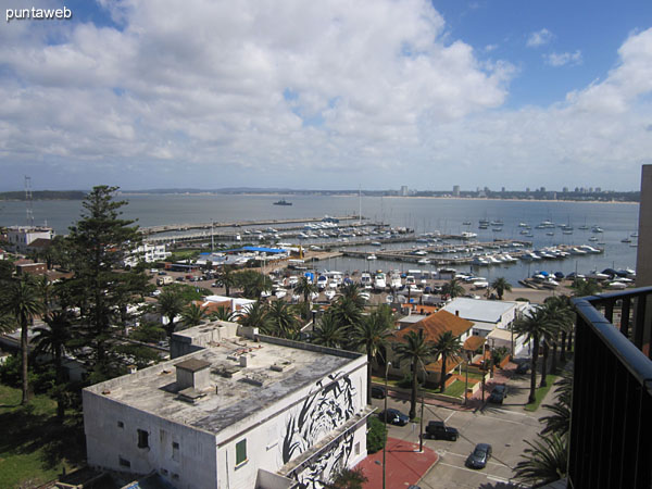 View to the marina from the balcony of the apartment.<br><br>In the foreground below, the legendary former Palace hotel.