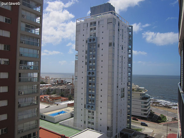 View to southeast over the Atlantic coast from the window of the second bedroom.<br><br>Environment towers of the Peninsula.