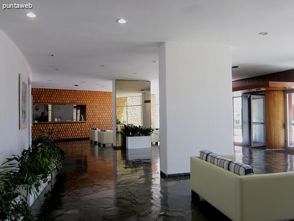 General view of the building from the lobby lounge access multiple applications.