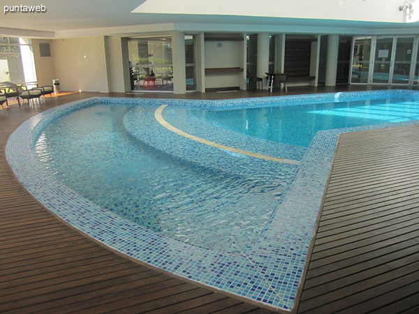 Detail design of the heated pool.