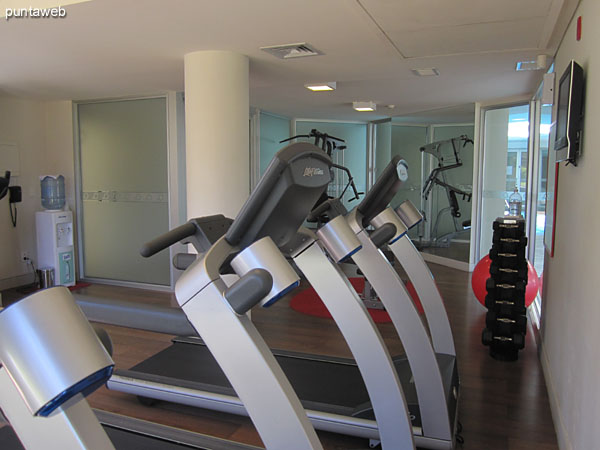 Gym. Located on ground floor, next to the heated pool.