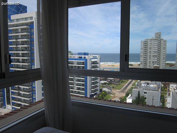 Looking south over the Atlantic Ocean from the second bedroom window.
