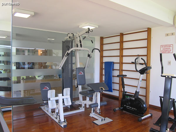 Gym. Located at the back of the building on the west side downstairs.<br><br>It is accessed by the adult ward.<br><br>Equipped with treadmills, stationary bikes and weight systems.