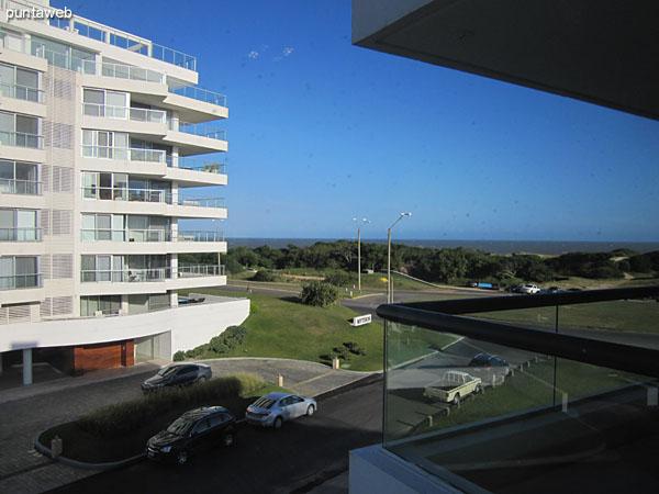 Vista hacia el este desde la ventana de la segunda suite.