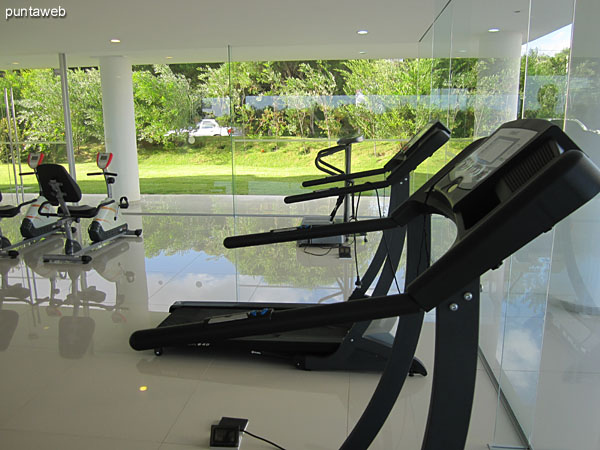 Small gym located on the east side of the ground floor of the block where the apartment is located.