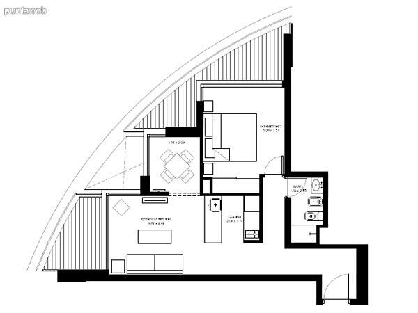 Apartamentos de tipología 08 &ndash; 208 &ndash; 2208<br>3 dormitorios en suite<br>Metros propios &ndash; 135.03 m²<br>Terrazas &ndash; 26.40 m²<br>Circulaciones &ndash; 10.40 m²<br>Metros totales 171.83 m²