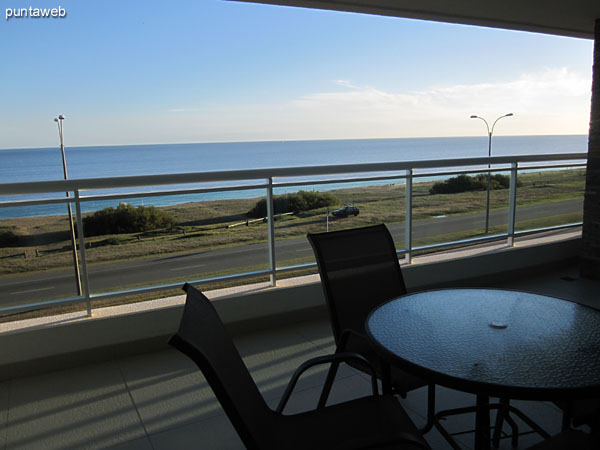 The apartment balcony terrace is also accessed from the master suite.