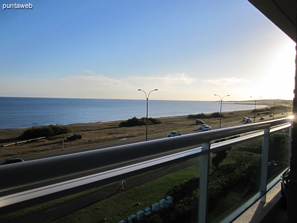 View to the mainland from the terrace apartment balcony.
