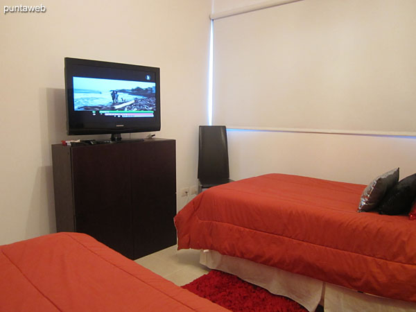 Second bedroom. Equipped with a flat–screen TV.