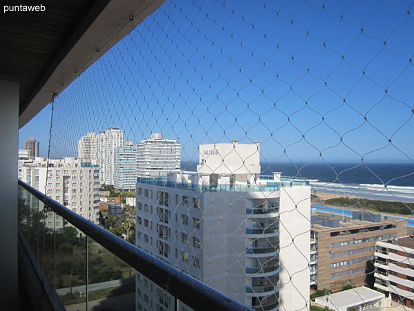 Overlooking the Brava beach on the Atlantic Ocean from the balcony of the apartment terrace.