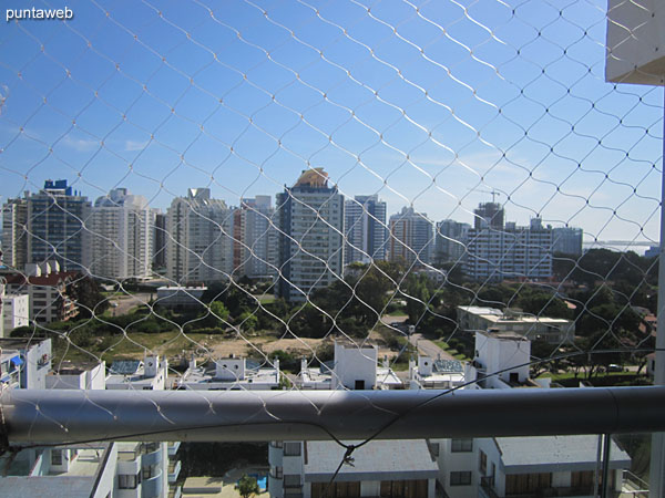 View to the southwest towards the peninsula of Punta del Este from the terrace apartment balcony.