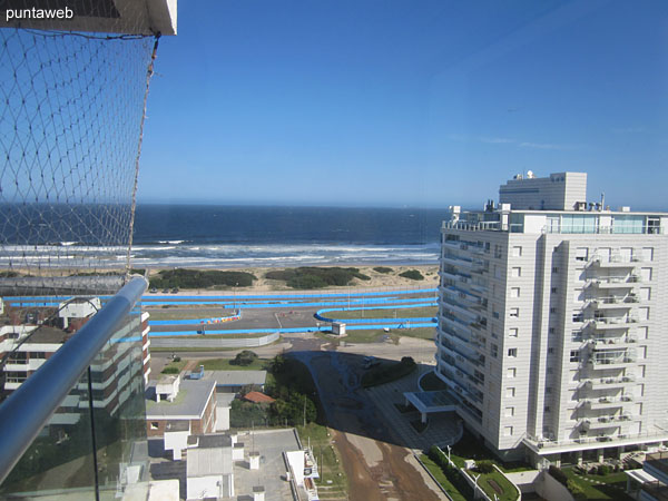 View to the beach Brava from the suite. The enclosure allows access to the terrace balcony of the apartment.