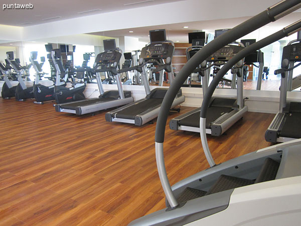 Gym. Located on the north side and east side.<br><br>Equipped with next–generation systems, tapes, stationary bikes, weight systems and chair massage.