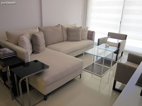 The room has air conditioning and flat–screen TV with cable.