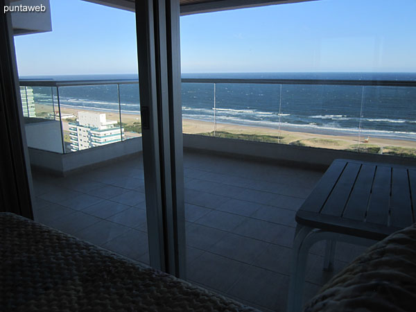 View to the beach from the second suite Brava.