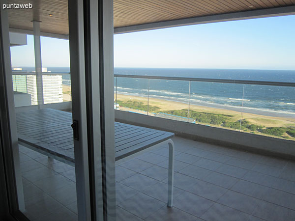 View to the beach Brava from the window of the third suite.