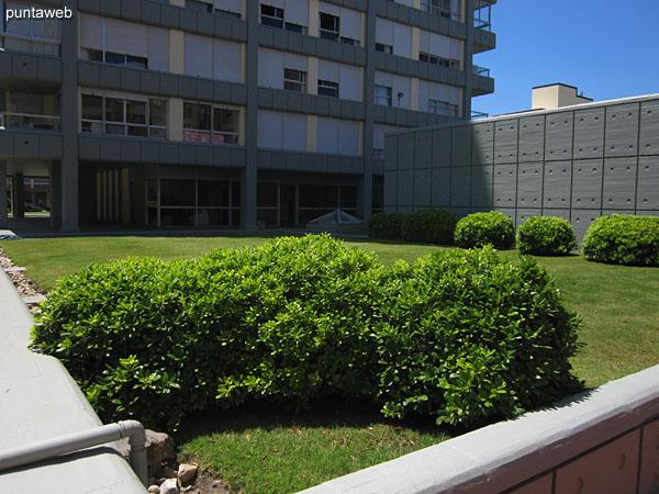 Esquina del apartamento en la fachada norte del edificio.