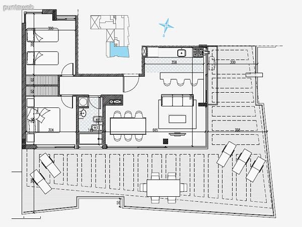 UNIDAD: 304 – 704 TIPOLOGIA 2 Dormitorios<br>Área Propia 69 mts.<br>Área Terraza Servicio 2.70 mts.<br>Área Balcón 7.20 mts.<br><br>UNIDAD: 104  204 – 404  604 – 804 – 903 TIPOLOGIA 2 Dormitorios<br>Área Propia 69 mts.<br>Área Terraza Servicio 2.70 mts.<br>Área Balcón 4.50 mts.