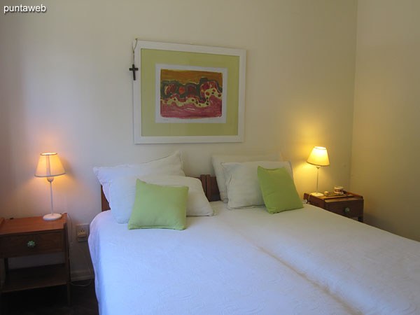 Main bedroom. Located forward of the building.<br><br>Equipped with double bed.
