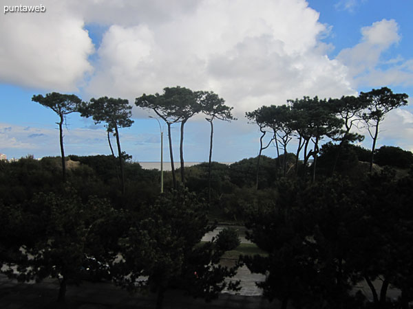 View westward over the dunes of the beach Mansa from the living room window.