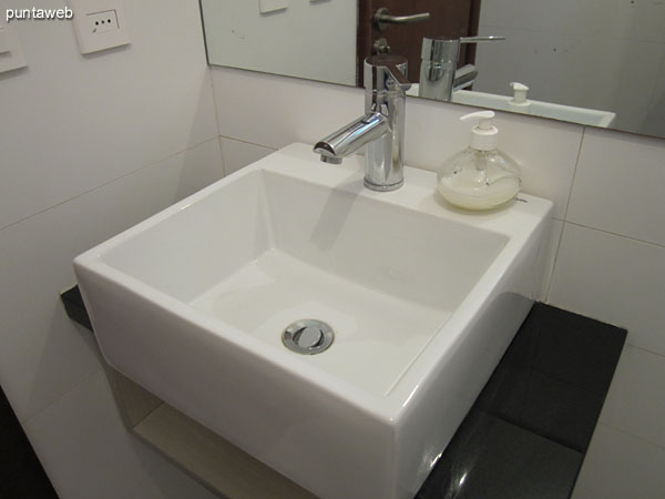 Servicios higiénicos en el sector de barbacoa.