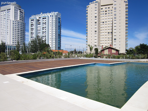 Heated pool, located towards the quiet part of the building.