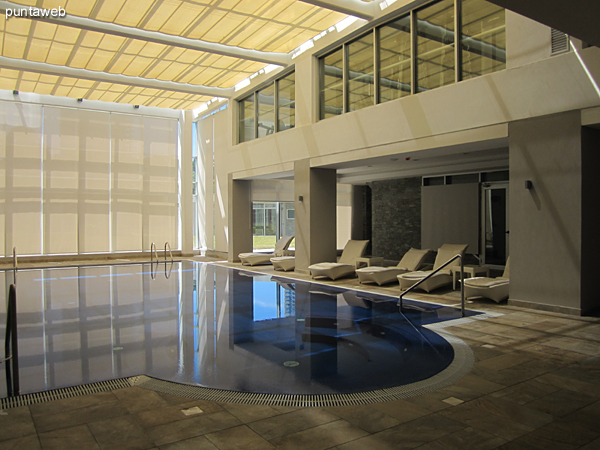 Climatized pool. Located on the ground floor at the back of the building.