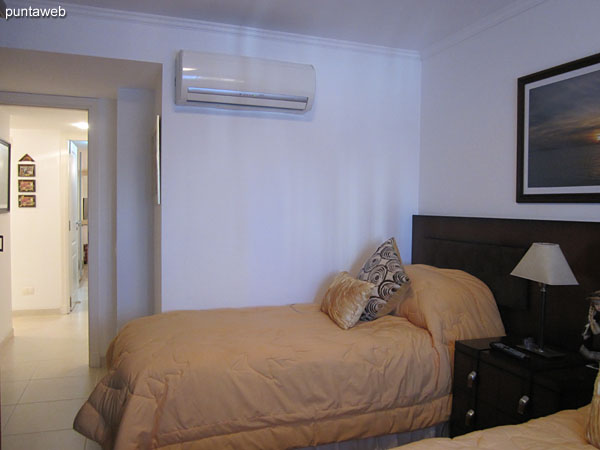 Second bedroom. It located the building and equipped with two single beds.<br><br>It has air conditioner.