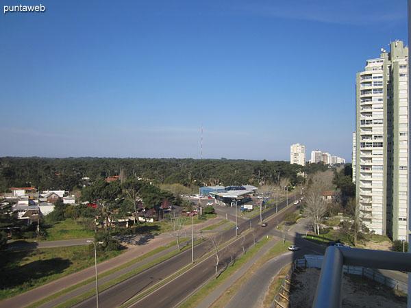 Vista hacia el este desde el balcón terraza accesible desde el living comedor.